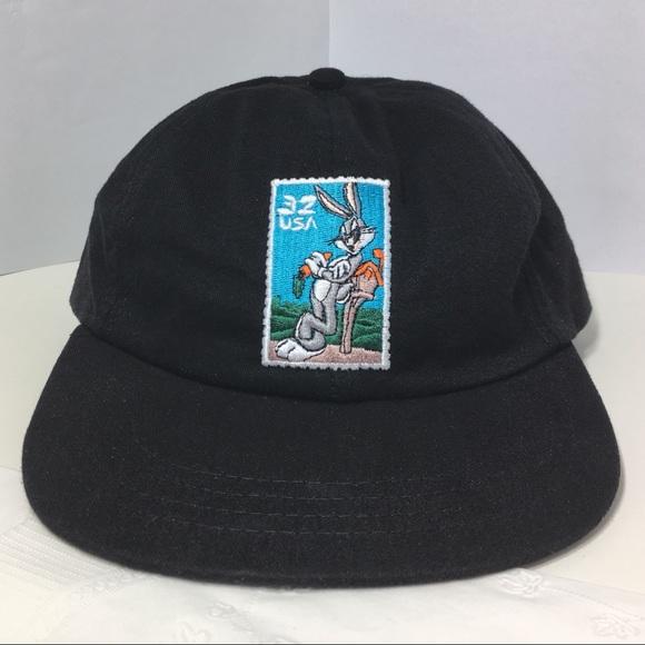 47f15d1fd54 Vintage Looney Tunes Bugs Bunny Black Snapback Hat.  M_5c37fb2e9539f7e0526e32eb